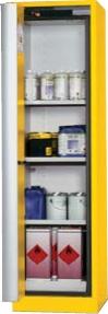 Bezpečnostní skříň se skládacími dveřmi s požární odolností 30 minut, barva: signální žlutá RAL 1004