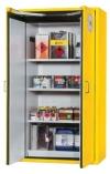 Bezpečnostní skříň s dvoukřídlými dveřmi s požární odolností 90 minut, barva: signální žlutá RAL 1004