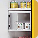 skřínka na jedy - pravé dveře, ocelový poplastovaný plech
