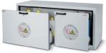 Bezpečnostní skříň nízká - se zásuvkami,s požární odolností 30 minut