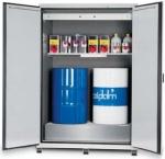 Bezpečnostní skříň pro skladování hořlavých látek – skladování sudů a velkých nádob – požární odolnost 90 minut