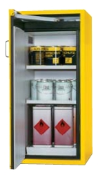 Bezpečnostní skříň s jednokřídlými dveřmi s požární odolností 90 minut, střední varianta
