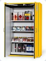 Bezpečnostní skříň Asecos s dvoukřídlými dveřmi s požární odolností 90 minut