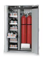 Kombinovaná bezpečnostní skříň (s požární odolností 90 minut) pro skladování tlakových lahví a hořlavin