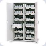 Bezpečnostní skříň pro ukládání kyselin a louhů, vysoká varianta