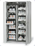 Kombinovaná bezpečnostní skříň s požární odolností 90 minut pro skladování kyselin a louhů a hořlavin
