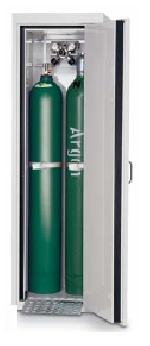 G30-bezpečnostní skříň na skladování tlakových lahví, s požární odolností 30 minut, barva: světle šedá RAL 7035, levé dveře