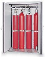 G30-bezpečnostní skříň na skladování plynových lahví, s požární odolností 30 minut, barva: světle šedá RAL 7035